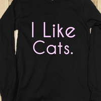 I Like Cats long sleeved shirt