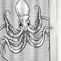 Swimming Octopus Shower Curtain | PLASTICLAND