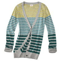 Mossimo Supply Co. Juniors Long Sleeve Striped Cardigan - Assorted Colors