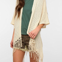 Urban Outfitters - Staring At Stars Dolman Fringe Cardigan