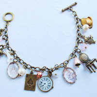 Alice in wonderland  Bracelet by Thebatinthehat on Etsy