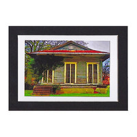New Orleans Cottage ready to frame 4x6 by twistedpixelstudio