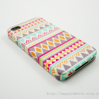 Aztec Geometric  iPhone 4 Case iPhone 4s Case by happyrabbitz