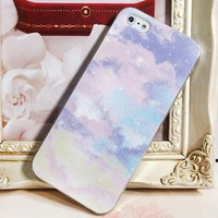 Purple Color with Sky Pattern Case for iPhone 5 [785]