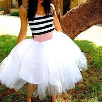 Striped Tutu Party Dress