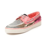 Womens Sperry Top-Sider Bahama Ombre Sequin Boat Shoe, Peach  Journeys Shoes