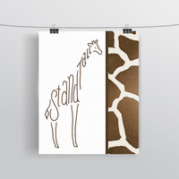 Stand Tall - Motivational Giraffe Print