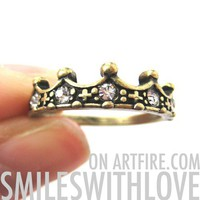 Royalty Crown Cross Ring in Bronze - Available in size 6 and 6.5 ONLY