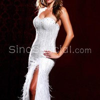 Free shipping: Sexy Sheath/Column Sweetheart Floor Length Side Split Prom Dress-sinospecial.com