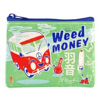 Weed Money Coin Purse - 95% Recycled Post Consumer Material - Whimsical &amp; Unique Gift Ideas for the Coolest Gift Givers
