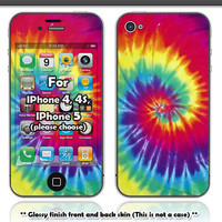 40% off - Tie dye skin for Iphone 4, 4s or Iphone 5 (Please choose your Iphone model)