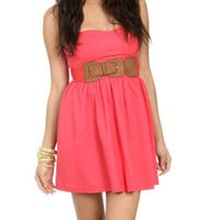 Tube Gauze Belted Dress - Teen Clothing by Wet Seal