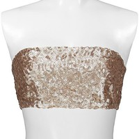 BKE Boutique Sequin Bandeau Top - Women's Shirts/Tops | Buckle