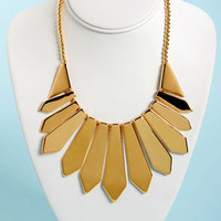Lucky Picket Gold Statement Necklace