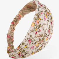 Floral Chiffon Headwrap