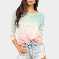 Ombre Deep Dye Knit - Mint