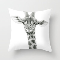 Young Giraffe  G2012-053 Throw Pillow by S-Schukina | Society6