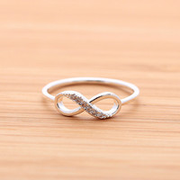 girlsluv.it - INFINITY ring with crystals, 2 colors