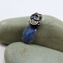 Labradorite pendant sterling silver and Kyanite by MoonGlowJewelry