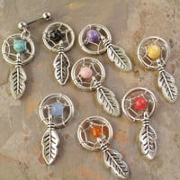 Small Dream Catcher Tragus Piercing YOU CHOOSE by MidnightsMojo