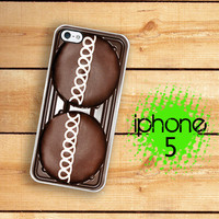 iPhone 5 Case Chocolate Cupcake   /Hard Case For iPhone 5. Plastic or Rubber Trim