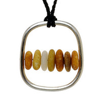 Ltd edition Katiki pebble pendant
