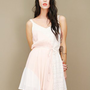 color block sundress in white and pink featuring tonal tribal print  | shopcuffs.com
