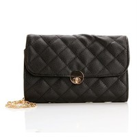 Black/Gold Quilted Bag