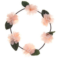 Apricot Flower Garland Headband