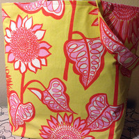 Spring Fling Reversable Tote Bag by artisticsouldesigns on Etsy
