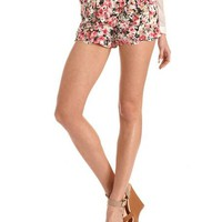 Scalloped Hem High Waist Short: Charlotte Russe