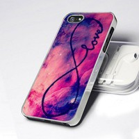 CDP 0682 Popular Galaxy INFINITY LOVE design for iPhone 5 case