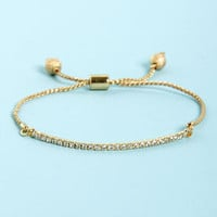 Ad-Just the Essentials Gold Rhinestone Bracelet