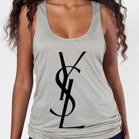 YSL Printed on American Apparel Ultra-light oversized Tank