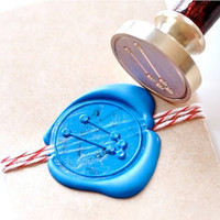 Taurus Zodiac Constellation Gold Plated Wax Seal Stamp x 1
