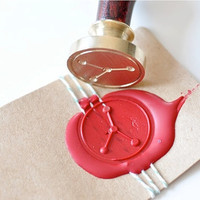 Cancer Zodiac Constellation Gold Plated Wax Seal Stamp x 1