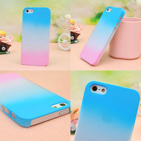 Colourful Gradient Frosted Hard Cover Case For Iphone 4/4s