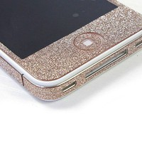 Cool Sand colour Shiny Rhinestone Full Body Cover Sticker For Iphone 5
