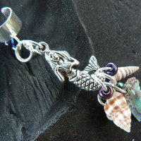 mermaid abalone  ear cuff  mermaid  siren abalone by gildedingypsy