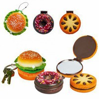 Tasty Treats Key Chain & Compact Mirror
