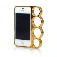 Knuckle Bumper Silver Case for iPhone 4/4S [603]