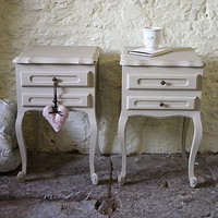 pair of vintage french bedside cupboards by katie bonas | notonthehighstreet.com