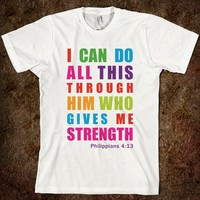 Colorful Inspirational Philippians 4:13 - Diamond Images