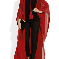 Saint Laurent | Silk-chiffon cape | NET-A-PORTER.COM