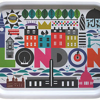 maria dahlgren london tray - colourful by caroline mcgrath | notonthehighstreet.com