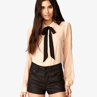 Woven Shirt w/ Self-Tie Neckerchief | FOREVER 21 - 2014131726