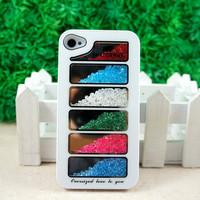 New Swatchway Bling Colorful Hard Back cover Case for iPhone 4 4G 4S White S186