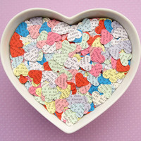 Personalised Heart Confetti - 500 Custom Hearts - Wedding, Table Decor, Rustic Wedding