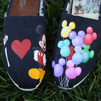 I Heart Mickey/Disneyland Original Custom Acrylic Painting for Toms Shoes