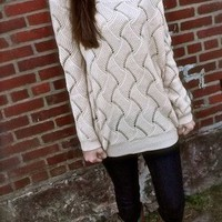 Pink Cute Zigzag Pattern Super Warm Sweater